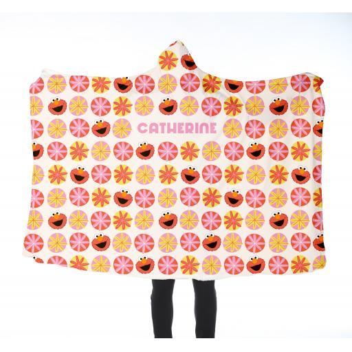 Personalised Adults Hooded Blanket - Retro Elmo.