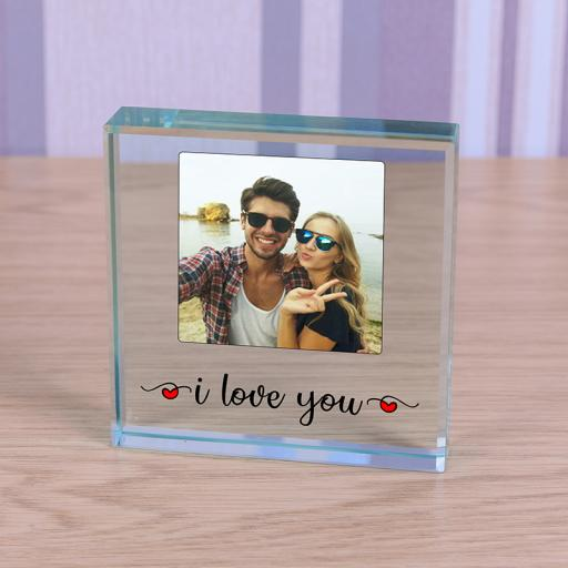 Personalised Glass Token - I Love You