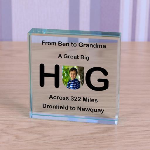 Personalised Glass Token - Sending a Hug