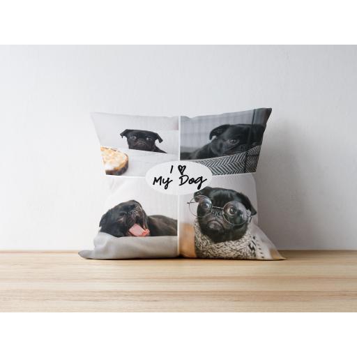 I Love My Dog Cushion