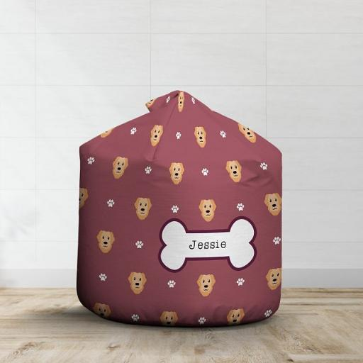 Personalised Golden Retriever Bean Bag - Pattern