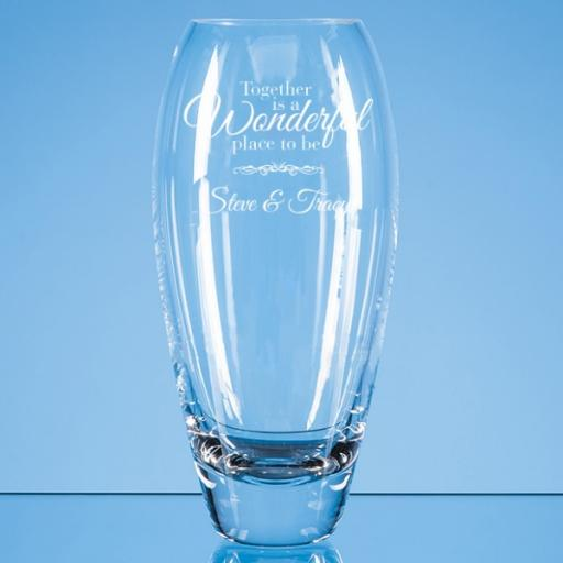 Design 2 - 18cm Diamante Petit Vase with Heart Design in an attractive Gift Box