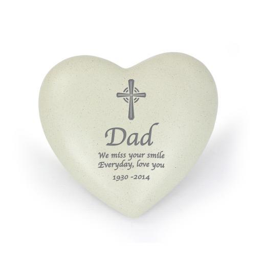 Personalised Cross Heart Memorial
