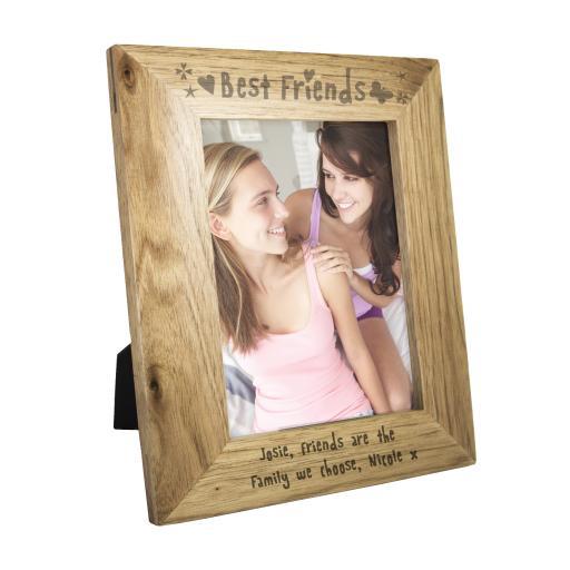 Personalised engraved 5 x 7 Oak Effect Frame - Best Friends