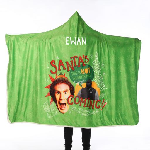 Personalised Elf™ Adult Hooded Blanket - Santas Coming.