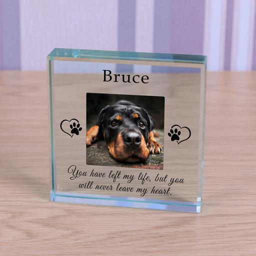 Personalised Glass Token - Never leave my heart