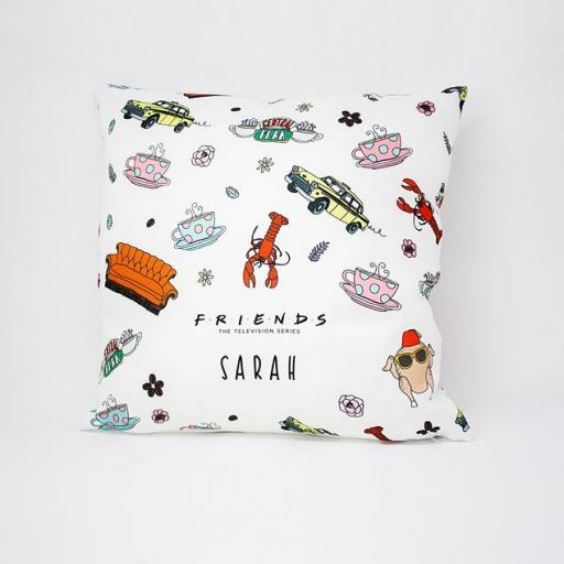 Personalised Friends™ Pattern Cushion.