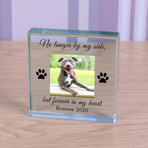Personalised Glass Token - Forever in my heart