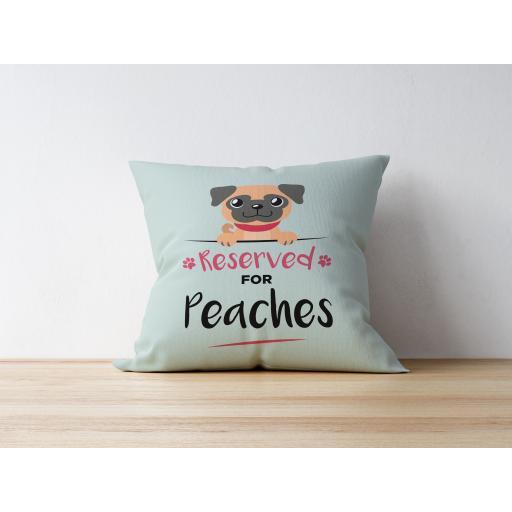 Personalised Apricot Pug Cushion
