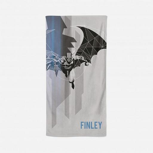 Personalised Batman Dark Matter Beach Towel.