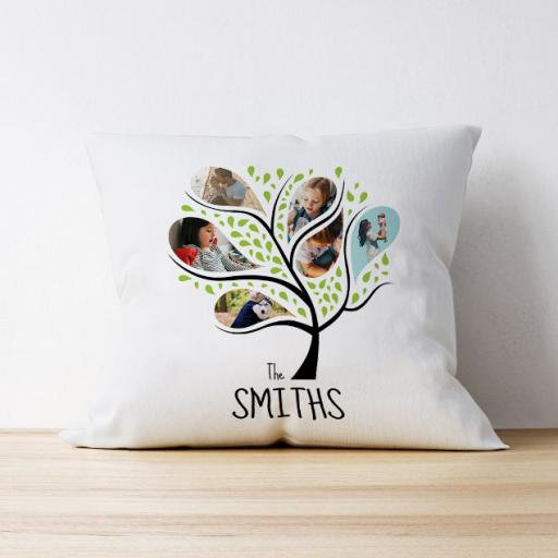 Photo Upload Cushion - Family Tree