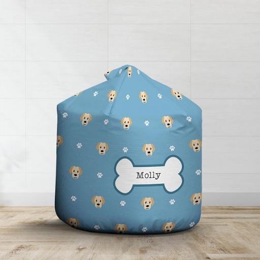 Personalised Cream Labrador Bean Bag - Pattern