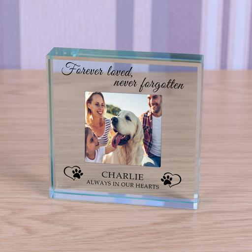 Personalised Glass Token - Always in our hearts