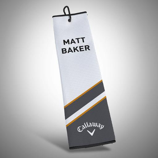 Personalised Callaway Customs Lumi 2.0 Tri Fold Towel