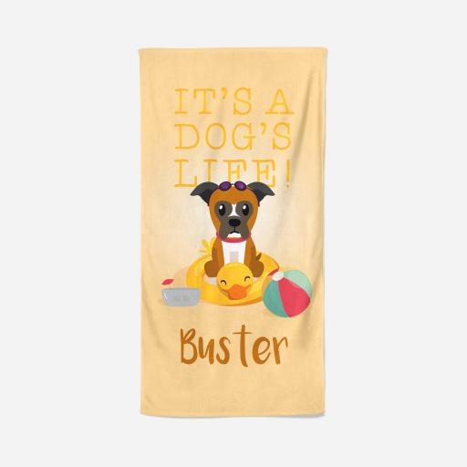 Personalised Boxer Dog Towel - Dogs life