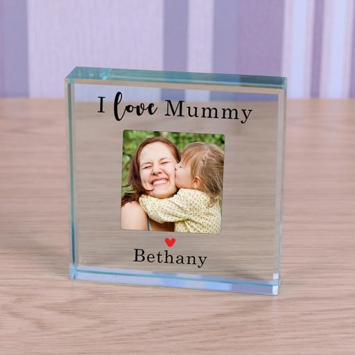 Personalised Glass Token - Love Mummy