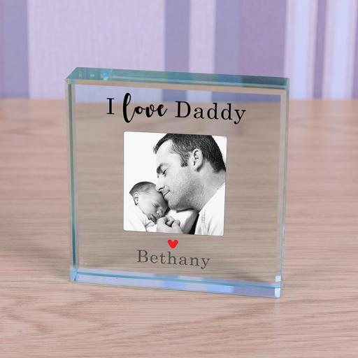 Personalised Glass Token - Love Daddy