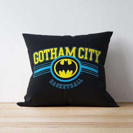 Personalised Batman Varsity Cushion.