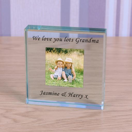 Personalised Glass Token - Photo with message