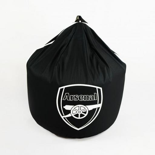 Personalised Arsenal FC Bean Bag - Black