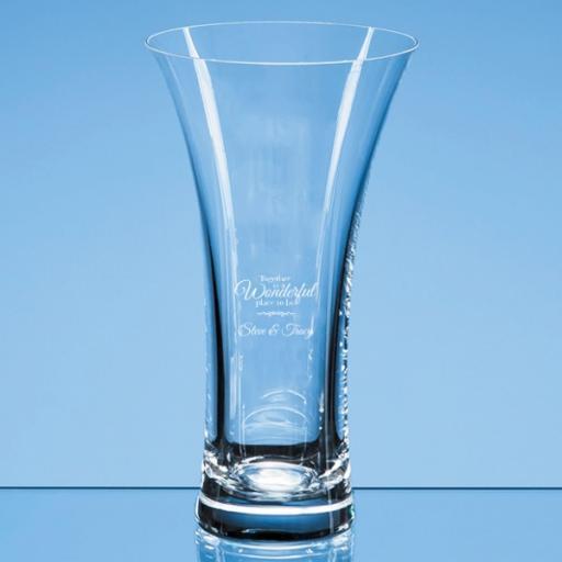 Personalised Design 2 - 21.5cm Neptune Plain Trumpet Vase.
