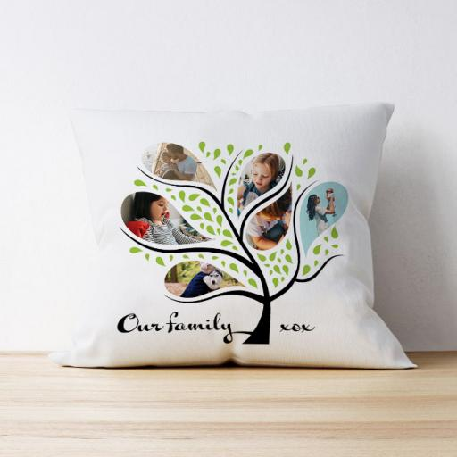 Photo Upload Cushion - 'Our Family'