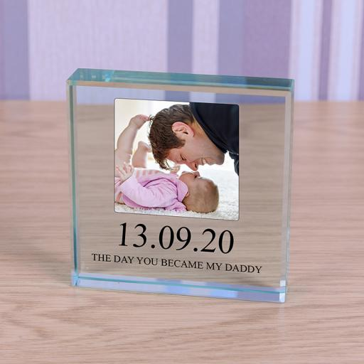 Personalised Glass Token - You Became My Daddy