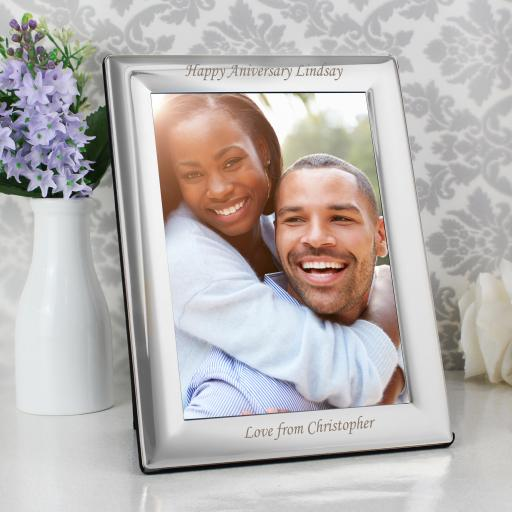 Personalised engraved Silver Plated 5x7 Frame