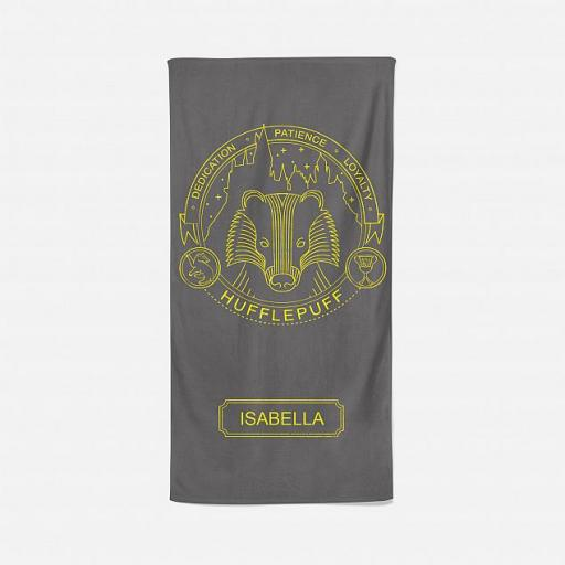 Hufflepuff™ Artifacts Personalised Beach Towel