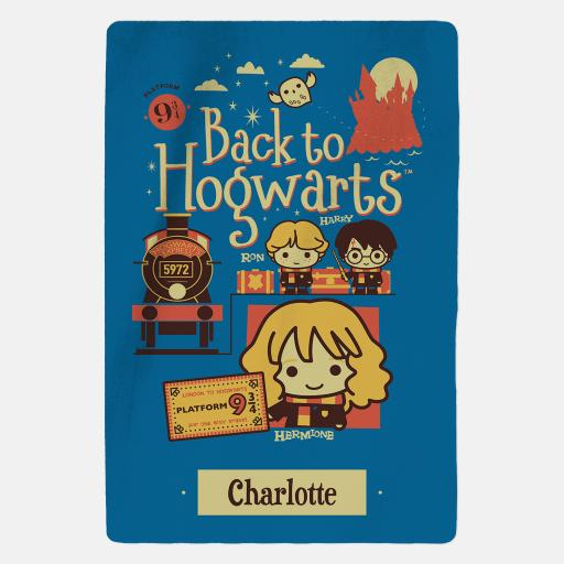 Harry Potter™ Personalised Blanket - Back To Hogwarts