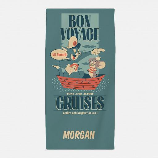 Personalised Tom & Jerry™ Bon voyage Beach Towel.
