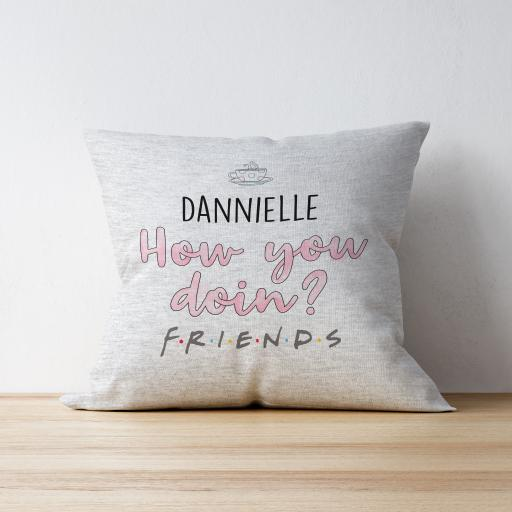 Personalised Friends™ How You Doin' Personalised Cushion.