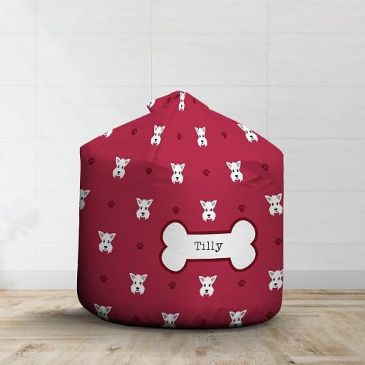 Personalised Westie Bean Bag - Pattern