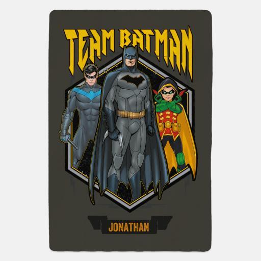 Personalised Team Batman Personalised Fleece Fleece Blanket.