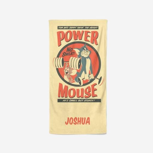 Personalised Tom and Jerry™ Personalised Towel - Power Mouse.