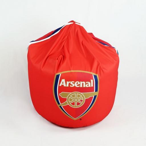 Personalised Arsenal FC Bean Bag - Stripes
