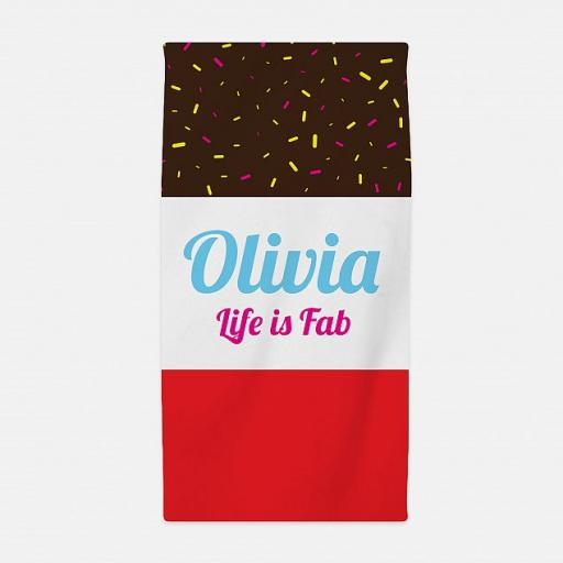 Personalised Fab Ice Lolly Beach Towel.