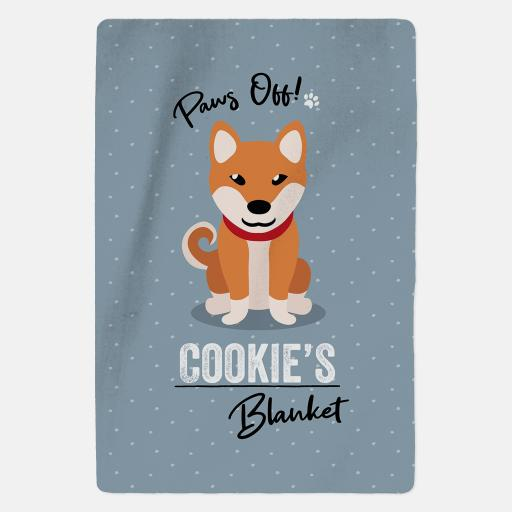 Personalised Shiba Inu Blanket - Paws Off
