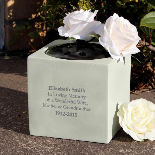 Personalised Any Message Memorial Vase