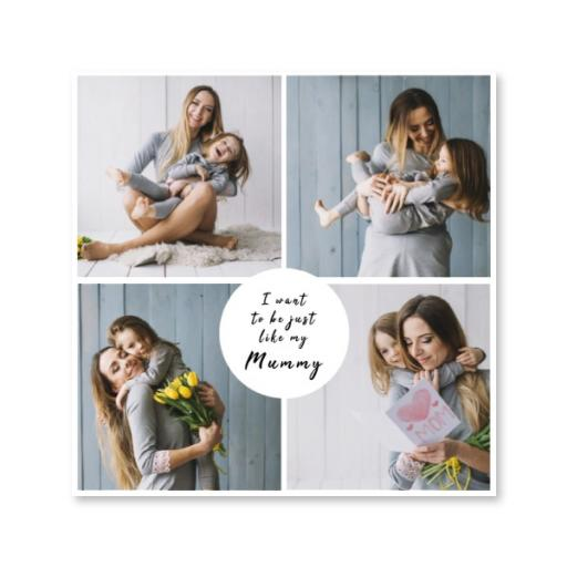 Personlalised Square Canvas - I Want To Be Just Like Mum