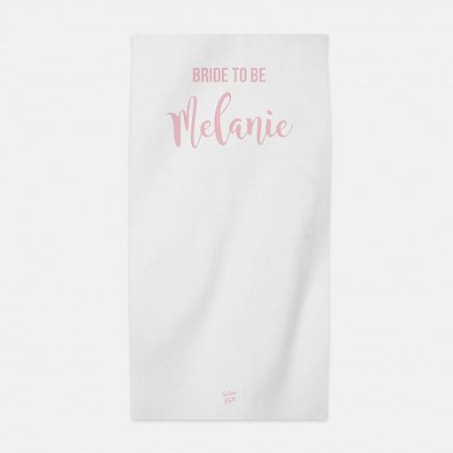 Personalised Bride to Be Hen Party Beach Towel.