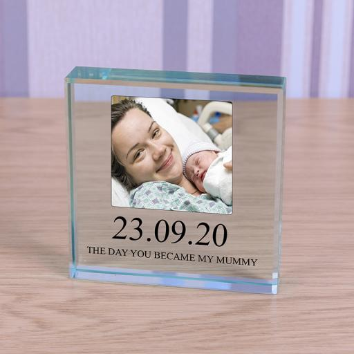 Personalised Glass Token - You Became My Mummy