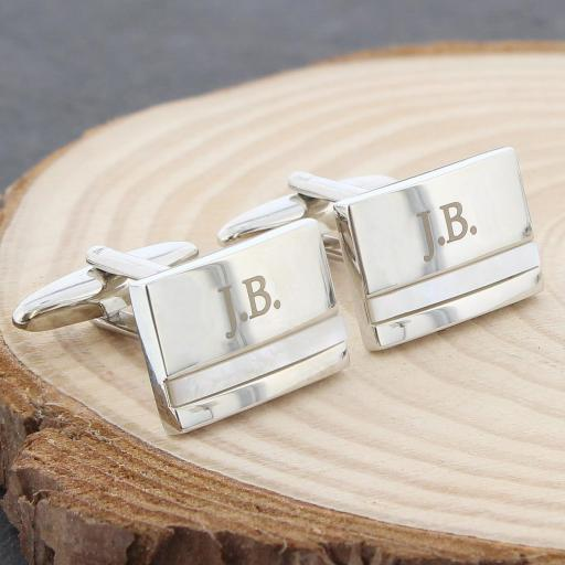 Engraved Mother Of Pearl Cufflinks