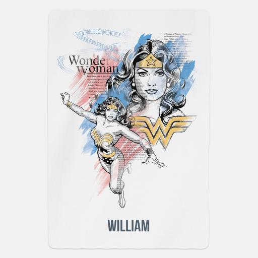 Personalised Wonder Woman™ A New World Personalised Fleece Blanket.