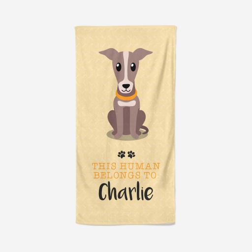 Personalised Greyhound Towel - Owner