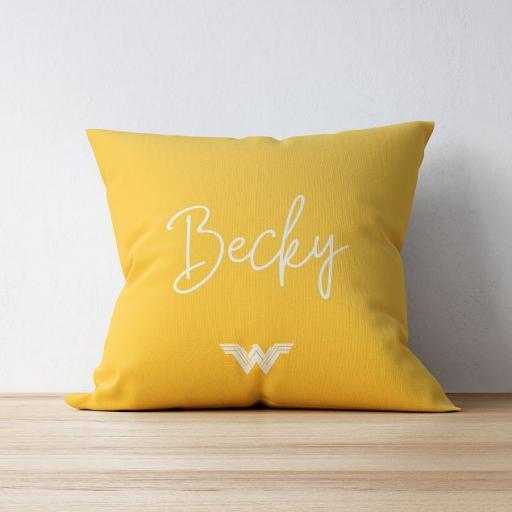 Personalised Wonder Woman™ Cushion - Pattern.