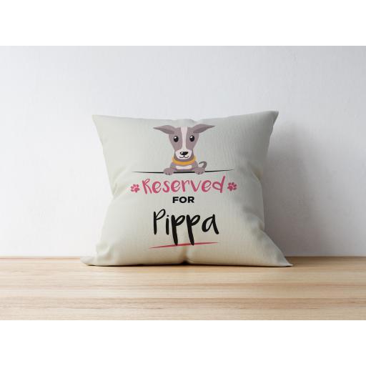 Personalised Greyhound Cushion