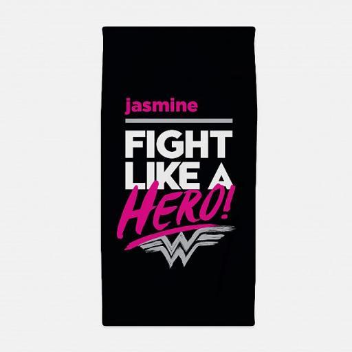 Personalised Wonder Woman™ Fight Like a Hero Beach Towel.
