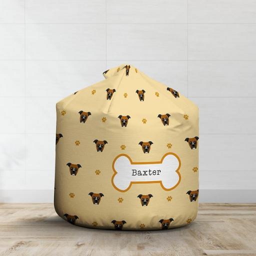 Personalised Boxer Dog Bean Bag - Pattern