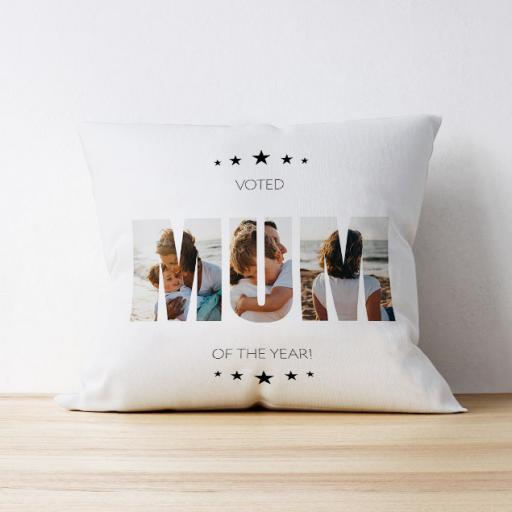 Photo Upload Cushion - Mum of the Year